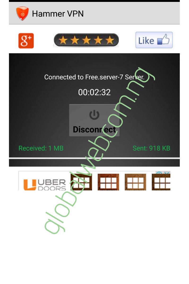 MTN Unlimited Free Browsing Via Hammer VPN 2019 ✓ - GlobalWeb Com NG