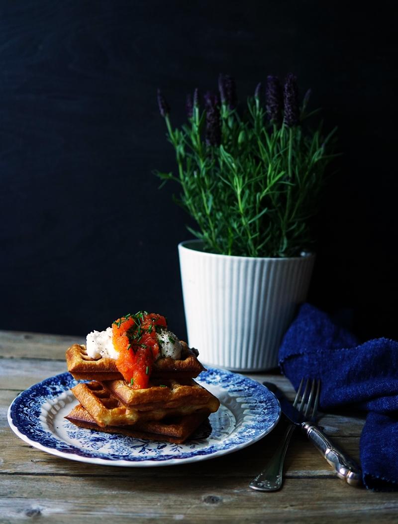 waffle, croissant