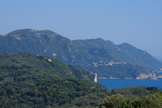 Greece. Corfu. Pelekas. Kaiser Throne. Observation deck. Греция. Корфу. Пелекас. Трон Кайзера. Смотровая площадка.