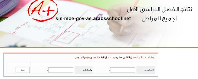 نتائج الصف الثاني عشر الكويت - الفصل الدراسي الأول 2016-2017