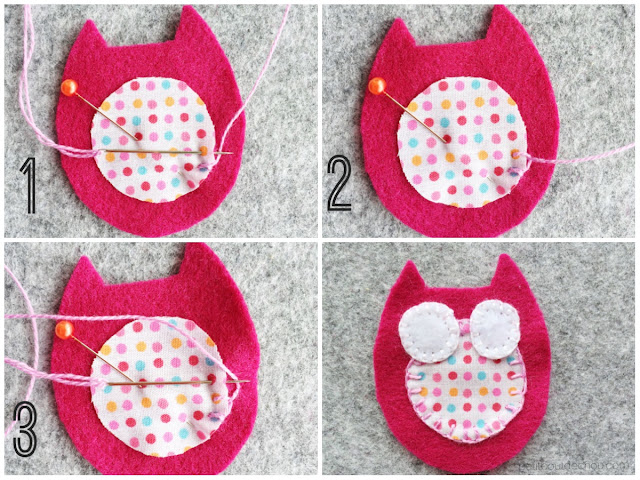 DIY stuffed felt owl with free pattern embroidery blanket stitch