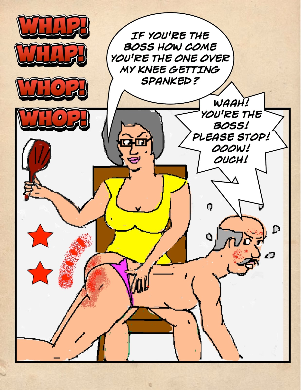 Adult cartoon spanking