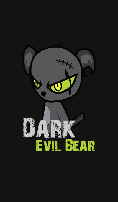 Dark Evil Bear Green
