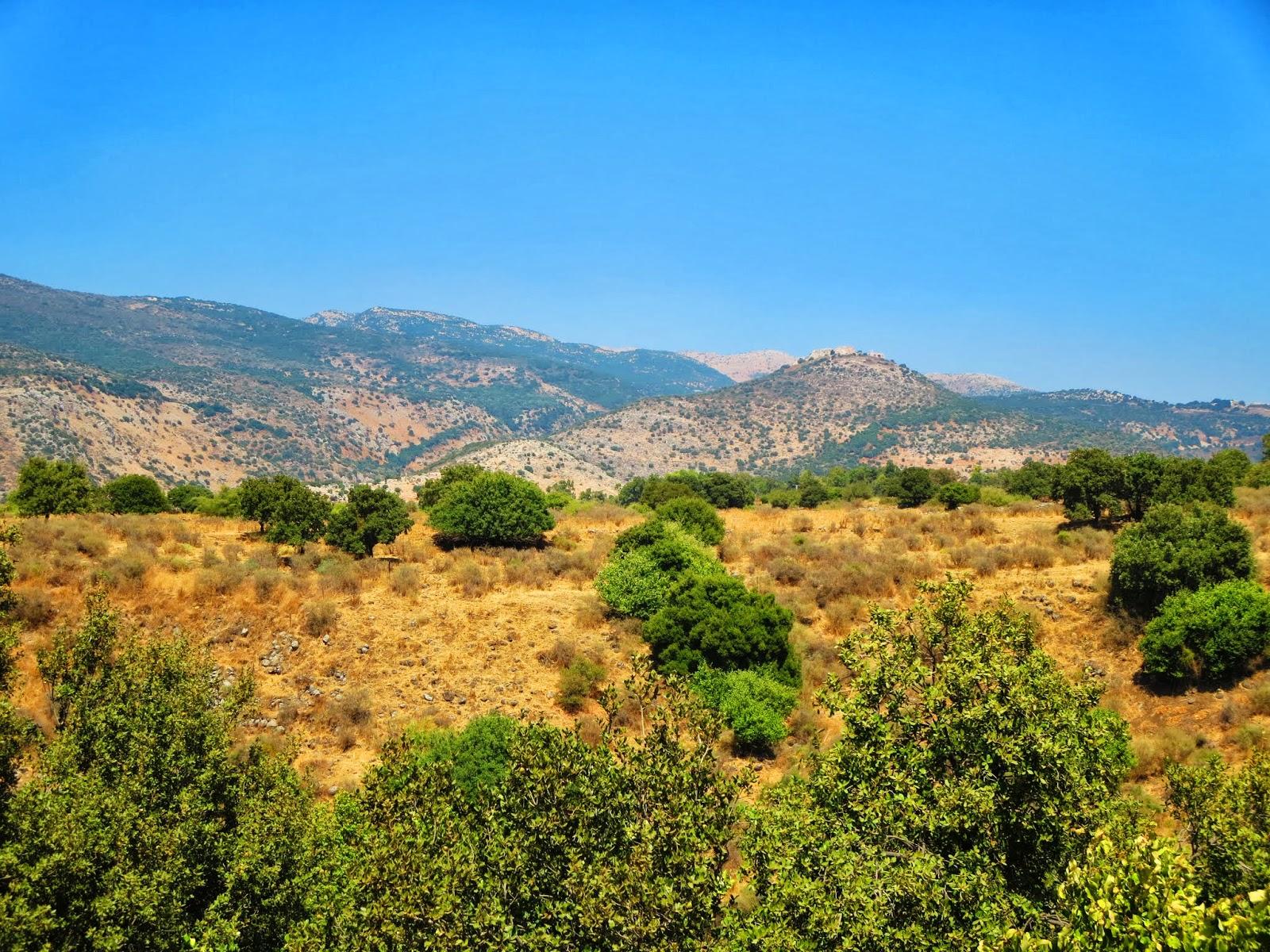 Israele e Cipro Paesaggi del Golan e Israele del Nord