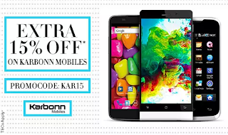 Buy Karbonn Mobiles with 15% cashback