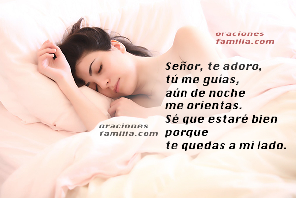 Oración para la noche antes de acostarse, dormir tranquilo, que Dios nos de un buen descanso, oraciones cristianas de reposo por Mery Bracho.