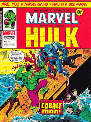 Mighty World of Marvel #182, Hulk vs Colbalt Man
