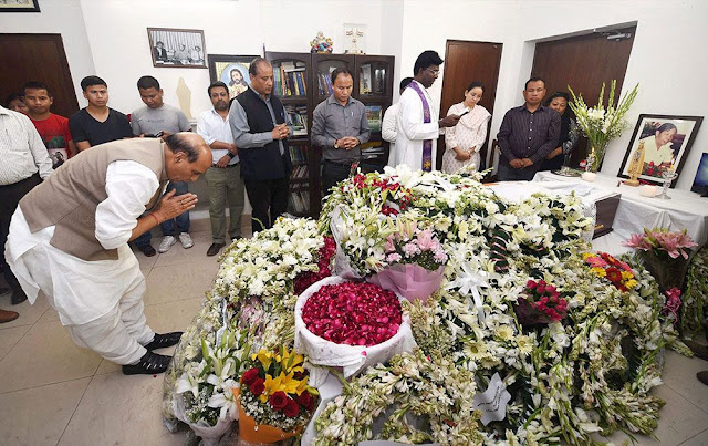 LAST RESPECTS TO THE MORTAL REMAINS OF FORMER LOK SABHA SPEAKER PA SANGMA