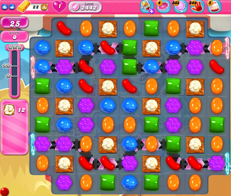 Candy Crush Saga level 2442