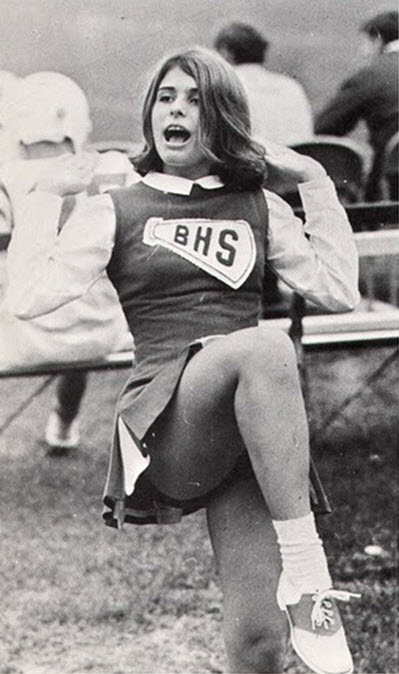 B&W Photographs of Cheerleaders in 1960s - 70s ~ vintage ... 1990s Hairstyles Men