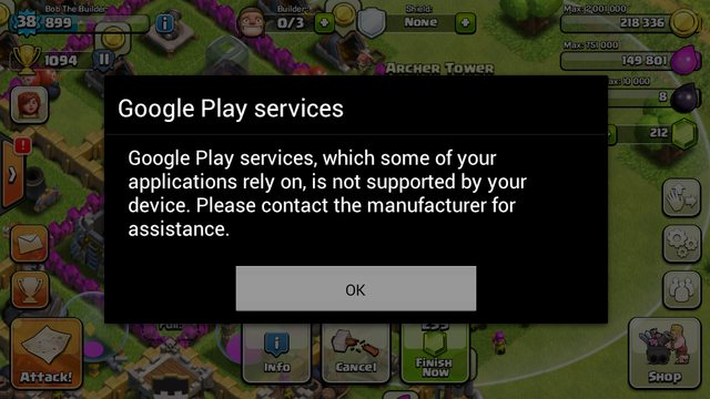 Clash-of=clans-error-not-supporting