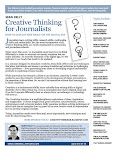 CREATIVE THINKING<br>FOR JOURNALISTS