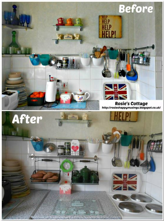 Ikea Kitchen Organization Using Fintorp Range Before & After
