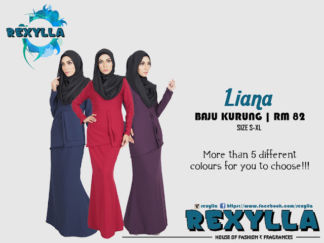 rexylla, baju kurung, liana collection