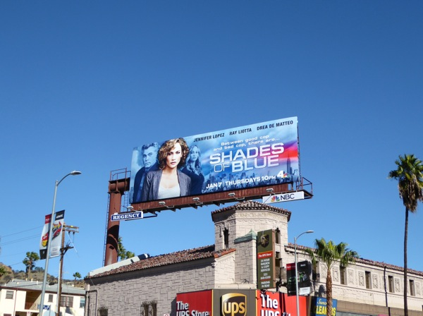 Shades of Blue TV billboard