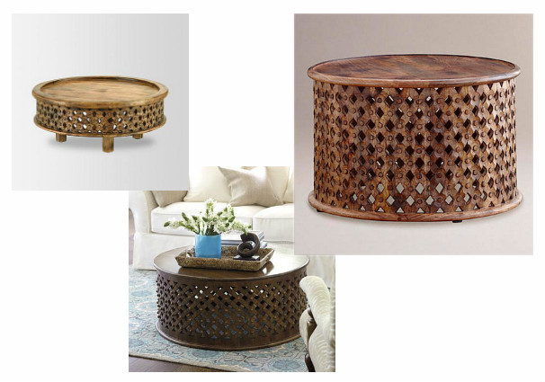 Carved Wood Tribal Coffee Tables. West Elm ...