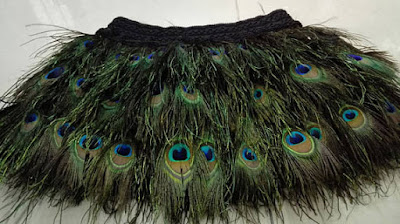 Mini Peacock Feather Skirt