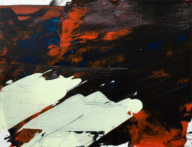 artiste oeuvre peinture jean baptiste besançon abstrait