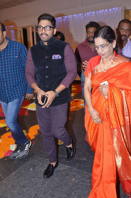 allu arjun at shyam prasad reddy daughter wedding