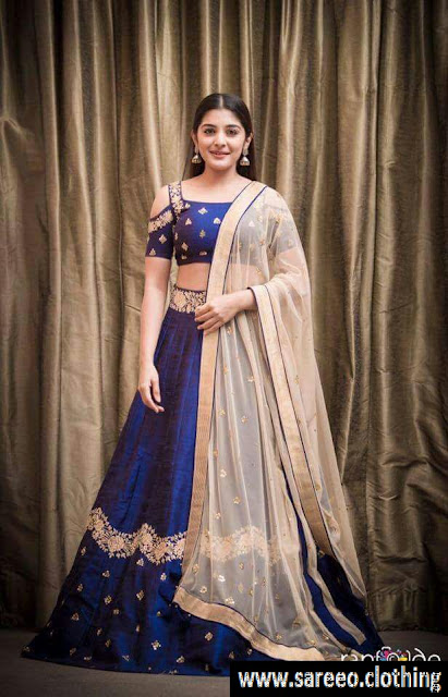 Blue Color Taffeta Silk Lehenga Choli