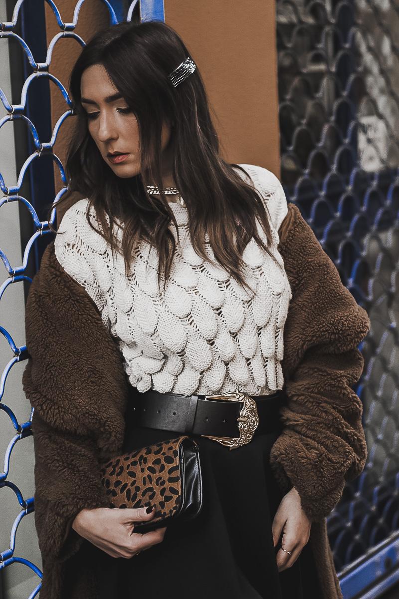 abrigo estilo teddy