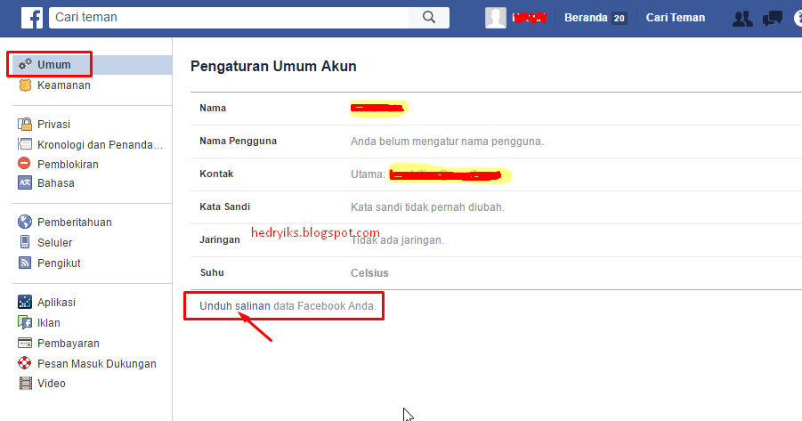 Unduh Aplikasi Facebook