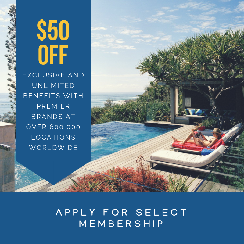 Apply for SELECT Membership (50$ off)