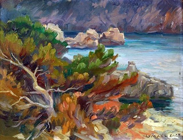Ismael Blat Monzo, Paisaje de Deiá, Mallorca en pintura, Mallorca pintada, Paisajes de Mallorca, Ismael Blat