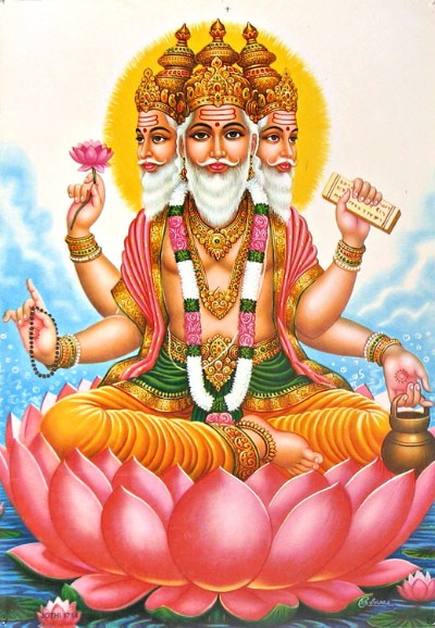 Hindu lord brahman picture