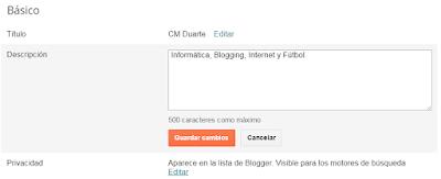 Titulo y descripcion en Blogger 2
