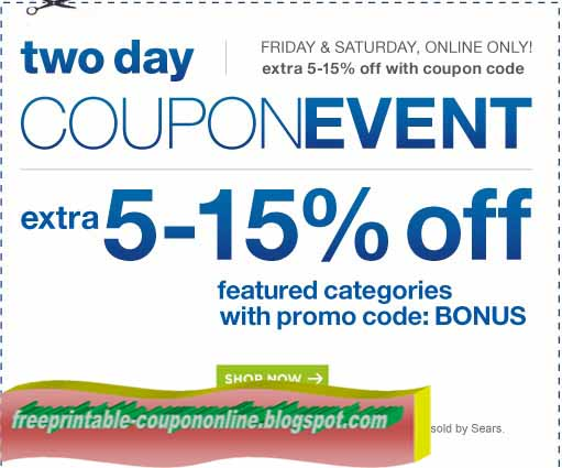 Sears discount coupons 2018