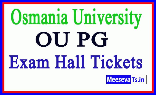 Osmania University OU PG Exam Hall Tickets Download