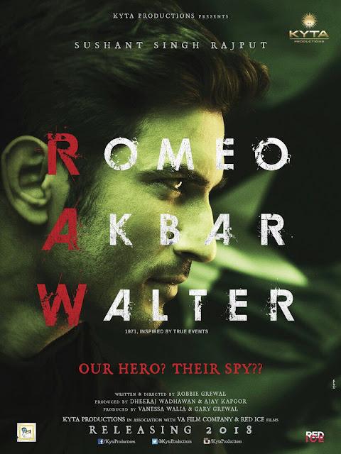 Sushant SIngh Rajput First Look Poster of Romeo Akbar Walter.