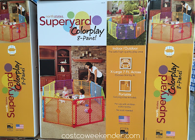 North States Superyard Colorplay 8-Panel Play Yard - Give your kids a safe and fun play area of their own!