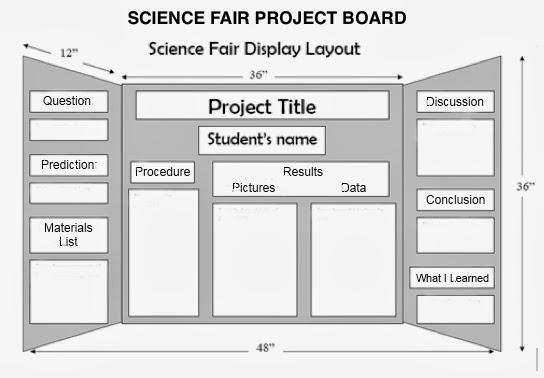 yces mad science fair  display board