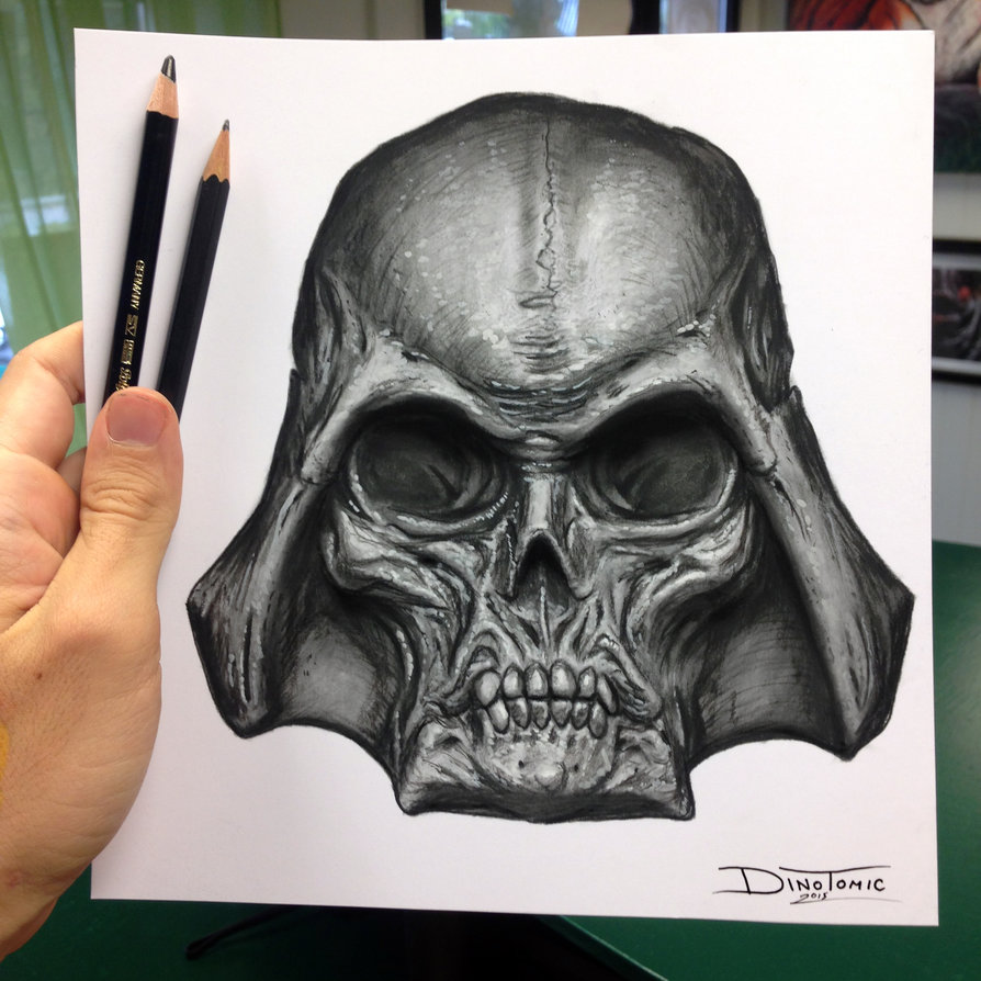 18-Darth-Vader-Skull-Drawing-Dino-Tomic-AtomiccircuS-Drawing-Painting-Tips-and-Digital-Art-www-designstack-co