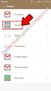 cara menambah akun gmail di hp xiaomi 4x