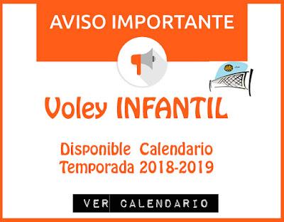 VOLEY INFANTIL: Disponible Calendario Temporada 2018-2019