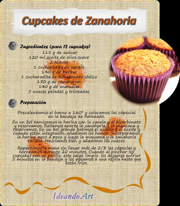 Receta cupcakes zanahoria