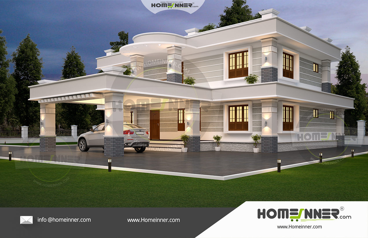 48 Lakh 4 Bedroom 4 Bath contemporary Cochin villa