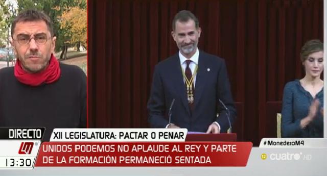 """Juan Carlos Monedero: """"Rafael Hernando sabe mucho de payasos"""""""