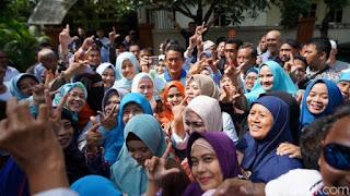 Sandiaga Uno bertemu relawan di Sidoarjo. Foto: detikcom.