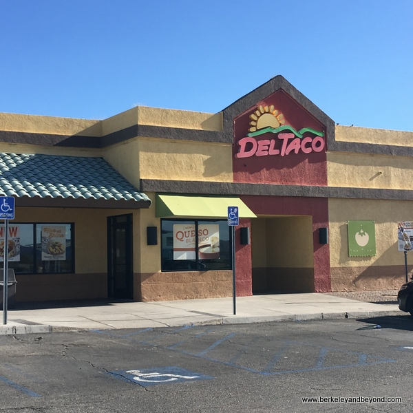 exterior of Del Taco in Baker, California