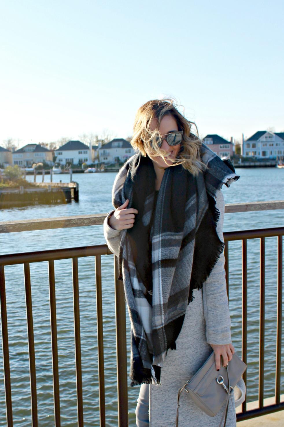 gray zara blanket scarf