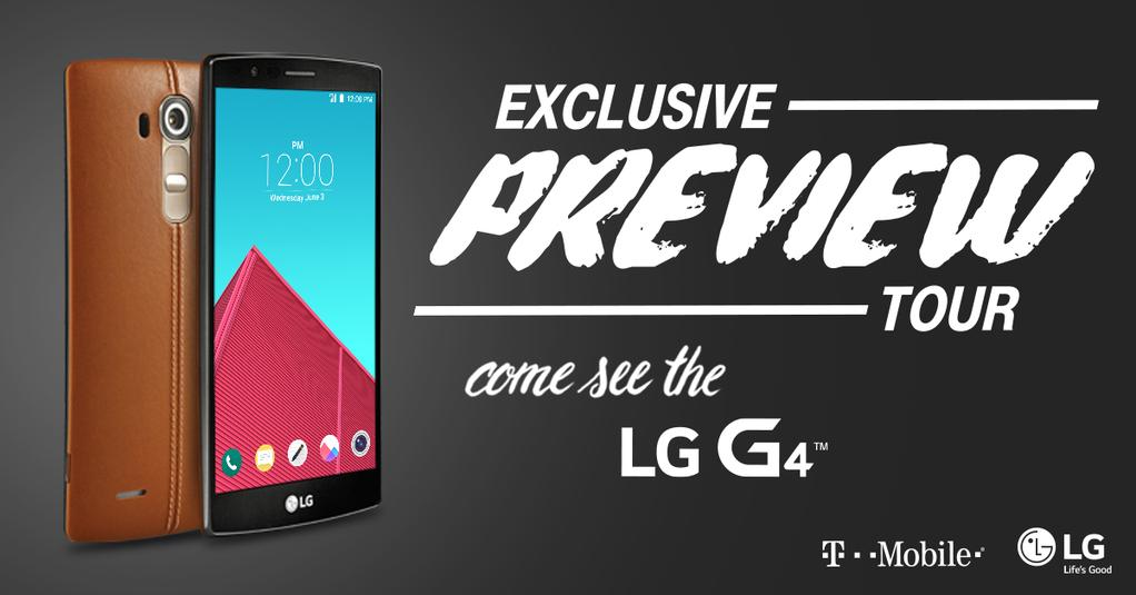 T-Mobile may begin carrying the LG G4 as early as June 2