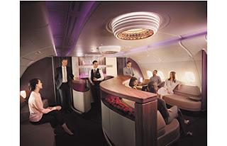 Source: Qatar Airways. The in-flight lounge.