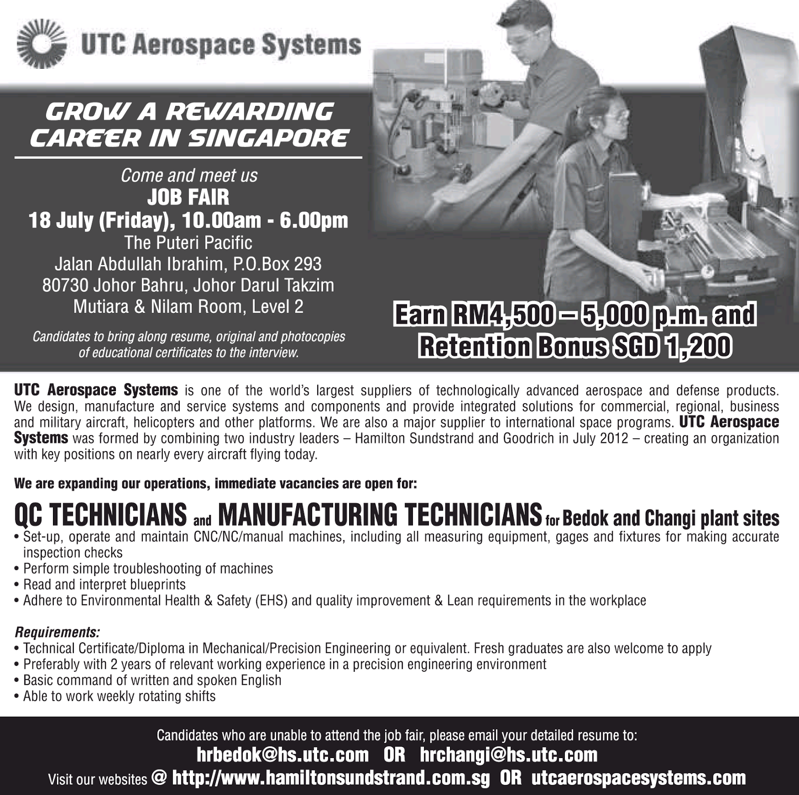 Oil & Gas, Government, and Private Sectors Jobs: UTC