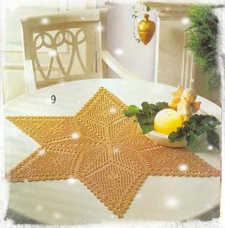 Napperon étoile de Noël