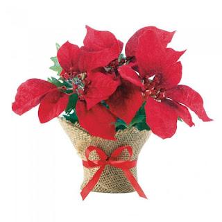 Small Everlasting Burlap Poinsettia - Giftspiration