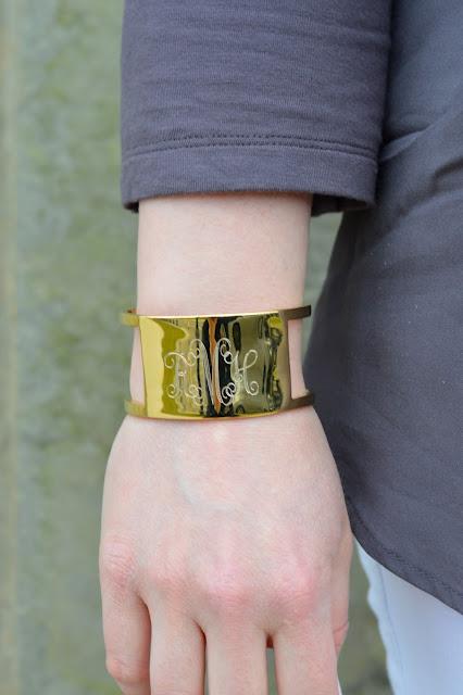 monogram-cuff-bracelet